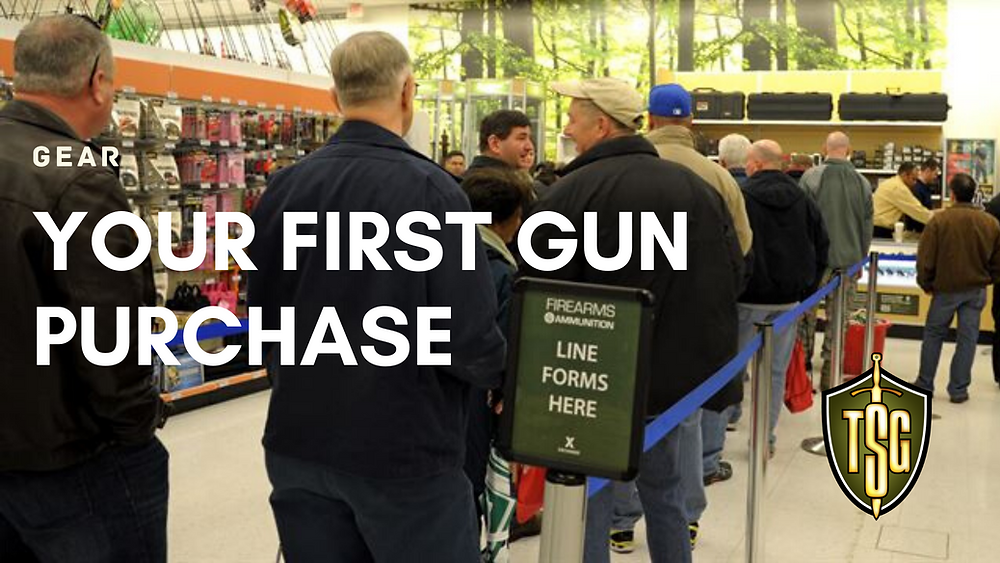 Long lines at gun store.