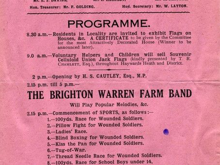 1918: Fete for wounded heroes at Victoria Park