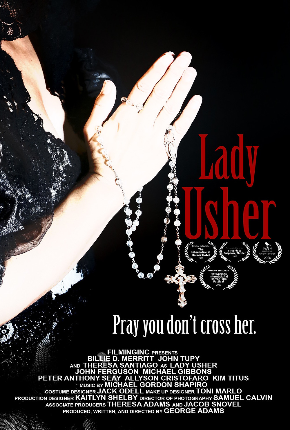 Poster for Lady Usher showing protagonist Theresa Santiago.