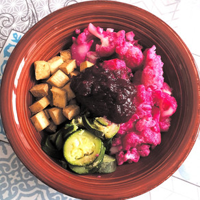 Cavolfiori rosa tofu al forno