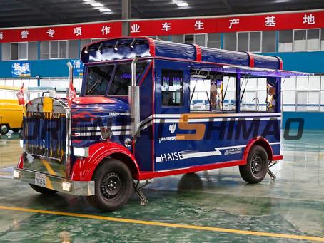 Electric citroen food truck: the fashion car