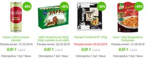 Fiksuruoka-kaupan tuotteet maksavat halvimmillaan vain  0,01e.