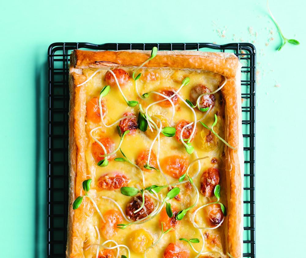 nesaldus pyragas, sluoksniuotos tešlos pyragas su daržovėmis ir sūriu, vmgonline receptas