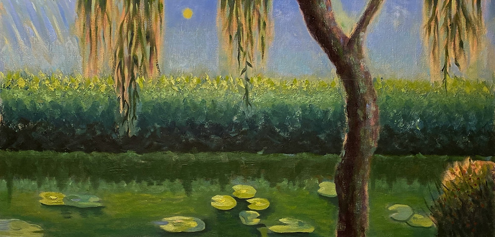 Weeping Willow  IX Greenbelt Park Maryland. Oil on Canvas Gallery Wrap
