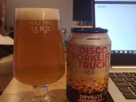 Blog #5. Drygate Brewing Co - Disco Forklift Truck. Just what the doctor ordered!