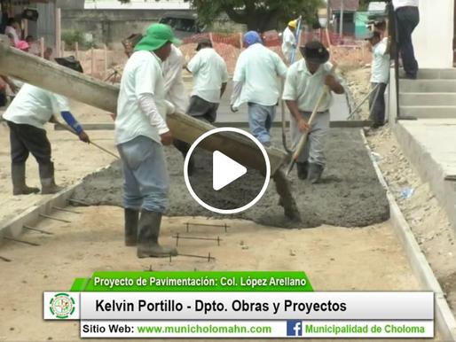 Avances en el proyecto de pavimentación en Col. López Arellano.