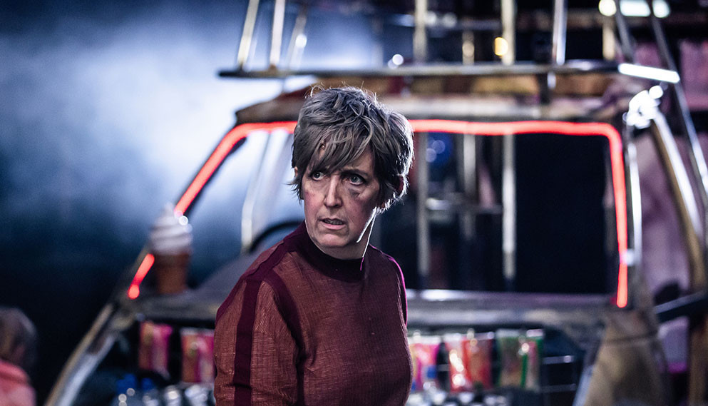 Julie Hesmondhalgh is Mother Courage in the Royal Exchangeand Headlong's production of the Brecht classic. All pics: The Other Richard