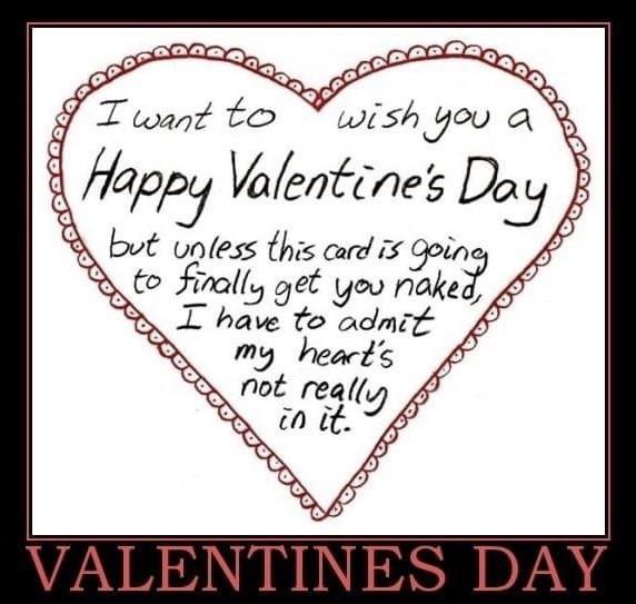 Funny Valentine's Day Card Note Meme