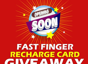 Fastest Finger Recharge Card Giveaway Coming Soon.