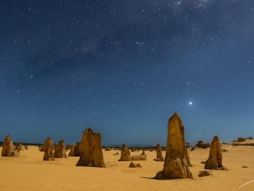 Le désert des Pinnacles en Australie