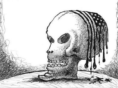 A ESPIRAL DA MORTE DO EUA...Heba Ayyad