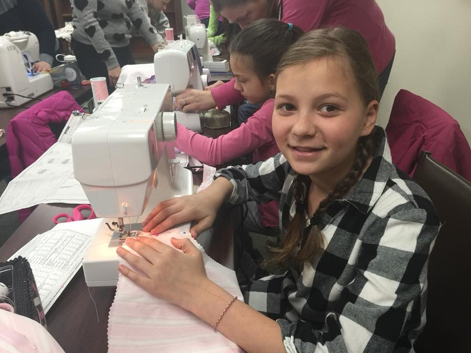 My daughter loves to sew in the winter to beat cabin fever