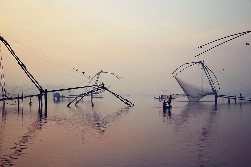 filets pêche chinoise cherai beach
