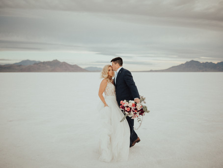 Jeff & Amy's Dreamy Bonneville Salt Flats Wedding