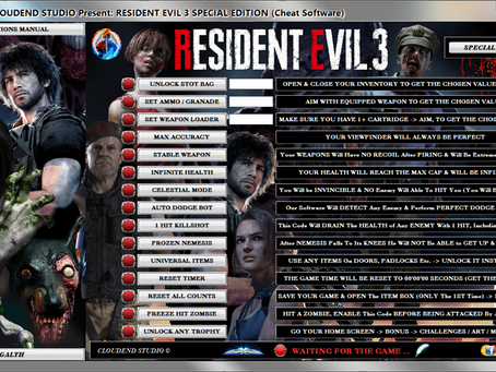 RESIDENT EVIL 3 SPECIAL EDITION + BYPASS ANTI CHEAT (Cheat Software)