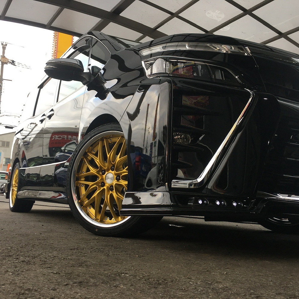トヨタ VOXY 80系 WORK シュヴァート クヴェル 19インチ 7.5J ミニバン キャンディインペリアルゴールド