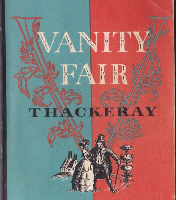 """The cover of William Makepeace Thackeray's novel, """"Vanity FAir"""".  Part of the Qwiz5 series by Qwiz Quizbowl Camp, written to help quiz bowl teams power more tossups!"""