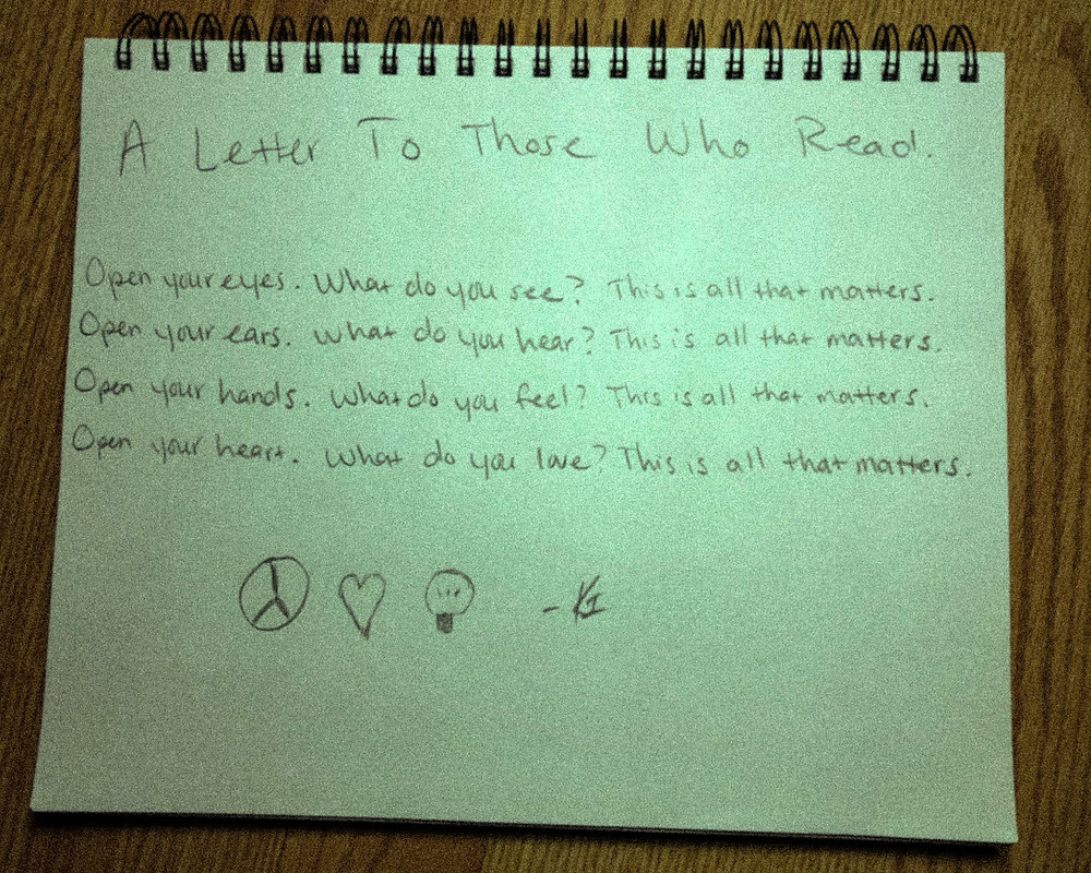 A Letter To Those Who Read. Original art by Kiru Smith in association with KIRUNIVERSE ART COLLECTIVE.