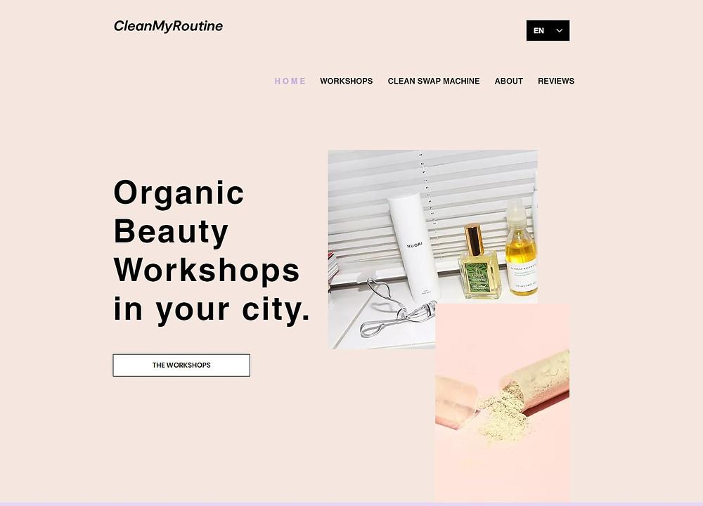 CleanMyRoutine Organic Bauty Workshops