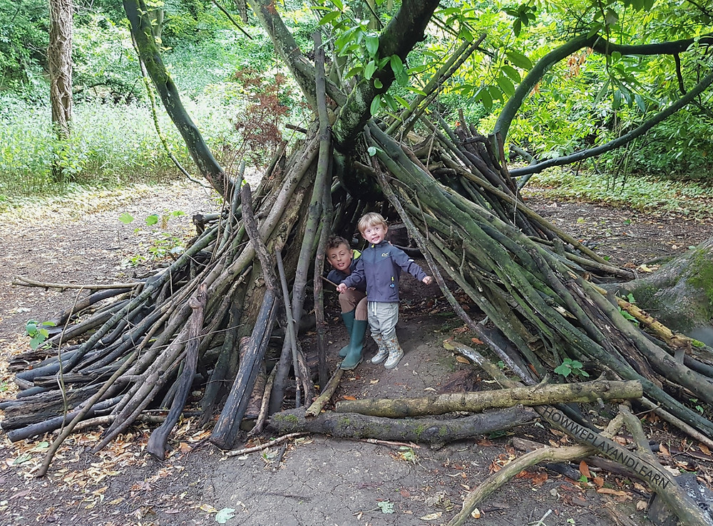 Den, nature play, why we love sticks