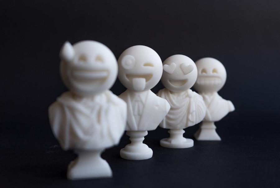 Emojis, 3D print, Ben Fearnley