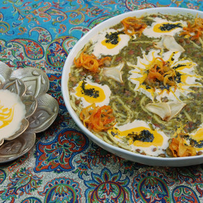 Persian Herb And Noodle Soup - Aash Reshteh