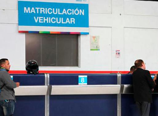Este viernes se reanuda el proceso de matriculación vehicular
