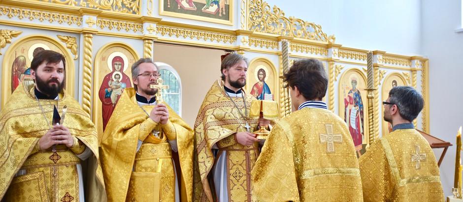 Первая литургия в храме во имя святого равноапостольного великого князя Владимира в селе Мисайлово