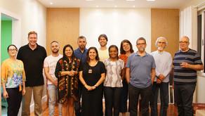 Na gravação do primeiro programa Realitas Talks: Dr. Manuel Curado