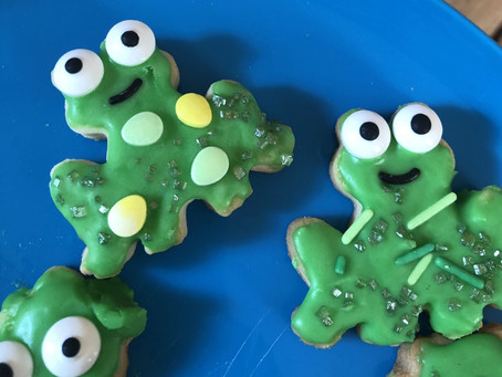 Pre-Writers Club: Speckled Frog Biscuits