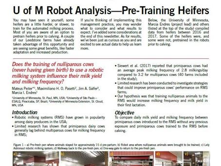 Pre-Training Heifers  - Is it worth it?