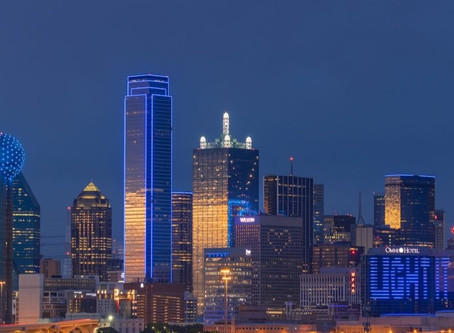 Dallas Turned Blue For Healthcare Workers