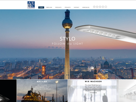 AEC Webseite - Relaunch 2017