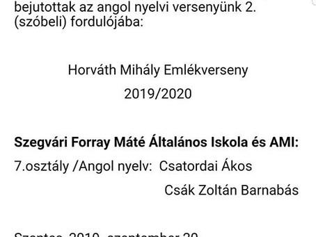 Horváth Mihály Emlékverseny (2019.)