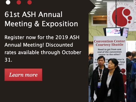 Come and see the lab's work at this years ASH meeting in Orlando - 1 talk & 4 posters