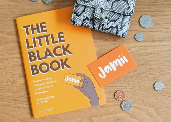 Photo via Jamii's Instagram of their Little Black Book and discount card