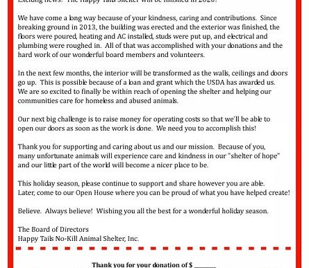 2019 Holiday Letter