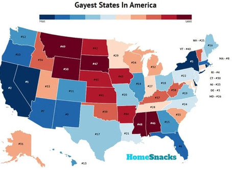 2020's Top 5 Gayest States in the United States