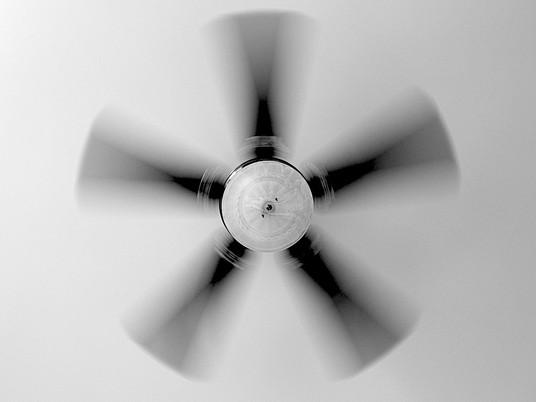 When the fan stops