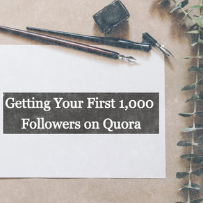 A Secret to Get Your First 1,000 Followers on Quora Quickly