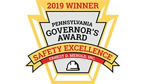 Ernest D. Menold, Inc. Wins the 2019 PA Governor's Award for Safety Excellence
