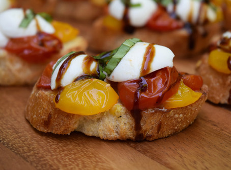 Crostini with Roasted Tomatoes and Mozzarella