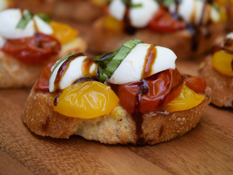 Crostini with Roasted Tomatoes and Mozzarella