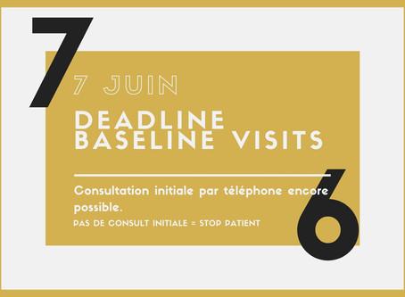 Deadline baseline visits