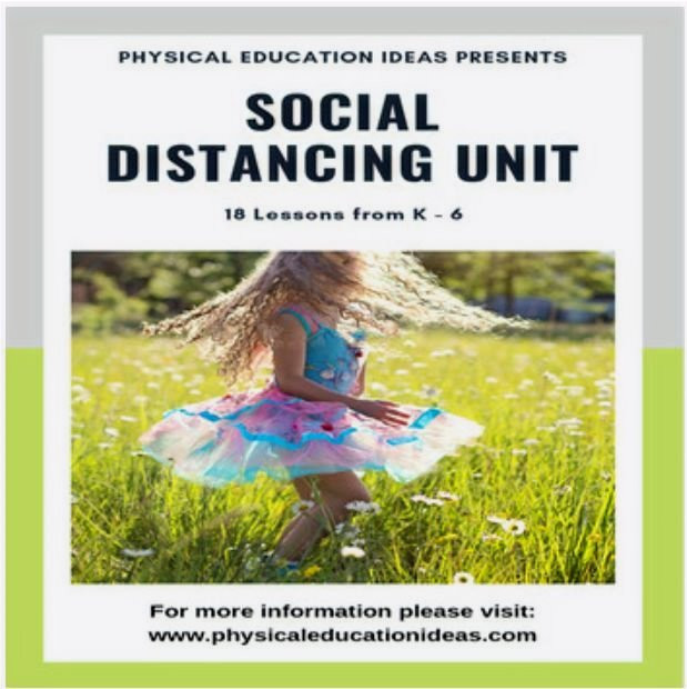 Social Distance Physical Education lessons games