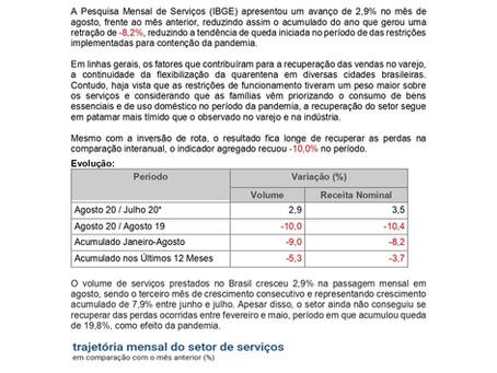 Nota Economica Semanal: Setor de Serviços tem avanço 2,9% no volume de serviços