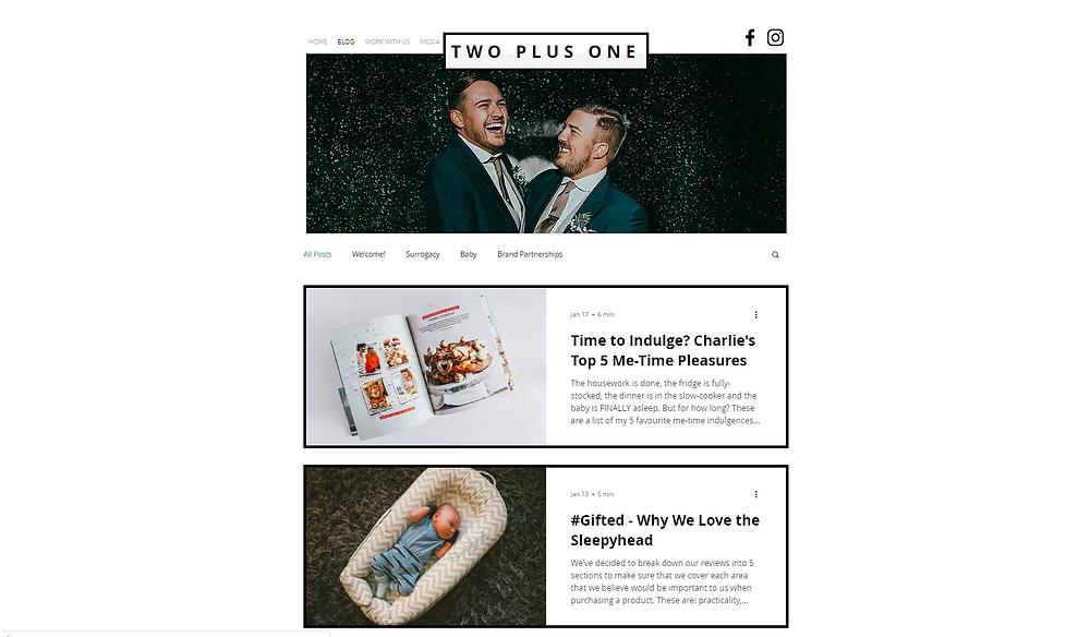 Two Plus One www.twoplusone.me is Charlie and Joe's very own parenting blog