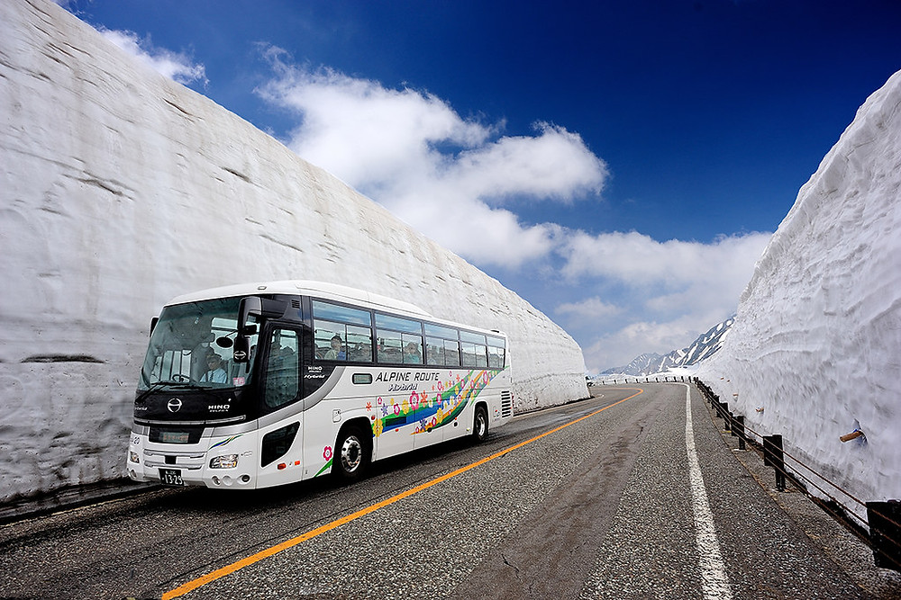 Yukino-ōtani, le mur de neige Japon