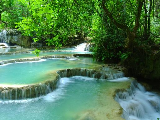 Les chutes Tad Saé au Laos