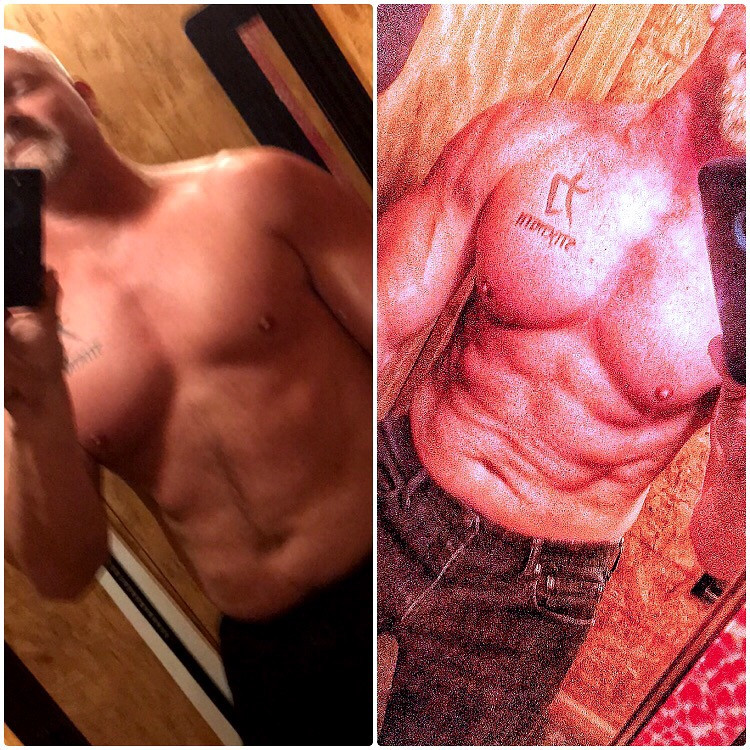 10 months into this journey.... 31 years ago I fresh out of the Army I weighed 215lbs...thought I was Rambo...  after a car accident left me in a coma for a couple months...  I lost over 45% of my body weight... yes I dropped to 160lbs.  Ok, so now I'm a bean pole.... I can't walk, can barely talk, had no use of my right arm, all I could do was start again....  I pushed 10 years or more to even get my confidence back and walk without a limp.  5 years post accident I attended college and graduated (I had to do something)....  I struggled in school.... not the academic part, I was smart.....just felt like everyone looked at me like.... what's wrong with you?  I struggled with my physical self which affected my emotional state terribly...  I was angry I was hurt I was embarrassed....  hardly set foot in the gym due to my odd body.... my disability.  The paralysis was better but still very there.... most of my college years I had to hold my right arm up to my chest.... due to it turning purple as with nerve damage comes poor circulation, and I carried it because that's about the only way I could lift it... in short,  I said that to say this....  if you catch me watching myself in the gym,  watching in the mirror .... please don't think me vain or a narcissistic fool....  I'm only remembering where I came from,  that disabled guy I once was will always haunt me...  my accomplishments have come through hard work.... and most of all persistence....  no I'm not all that, but I'm walking proof that when you mind is in tune with your body through persistence and repetition you will be successful!!!  Don't give up, don't quit, and love you..... love you as you are now and love what you will believe you are!!!! I'm 85% on my right as to where my left is 100% Yes I'm a little of balance,  and it may never catch up due to my neurological injuries.... but I love me, I had too....#itsnevertolate#loveyourself #mindandbody